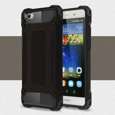 """Strapabíró """"Rock"""" védőtok Huawei P8 Lite készülékekhez – fekete"""