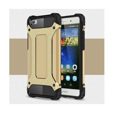 """Strapabíró """"Rock"""" védőtok Huawei P8 Lite készülékekhez – aranyszínű"""