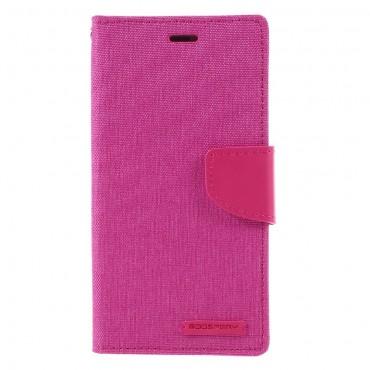 Goospery Canvas Diary tárca Huawei Honor 8 Lite / P8 Lite 2017 / Nova Lite készülékekhez – rózsaszín