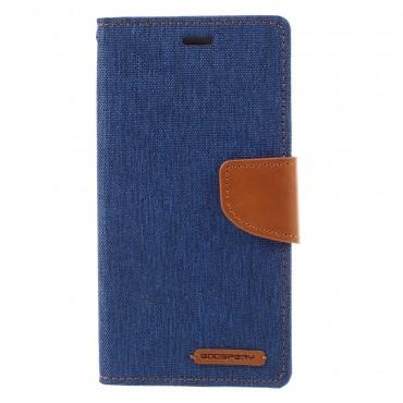 Nyitható tok Goospery Canvas Diary Huawei Honor 8 Lite / P8 Lite 2017 készülékekhez - kék