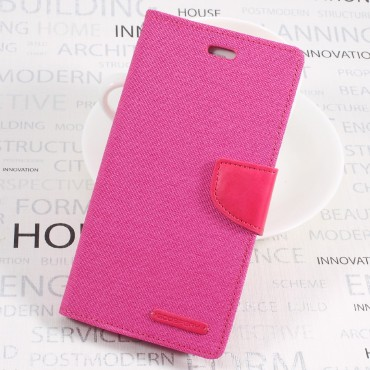 Goospery Canvas Diary tárca Huawei P10 készülékekhez – rózsaszín