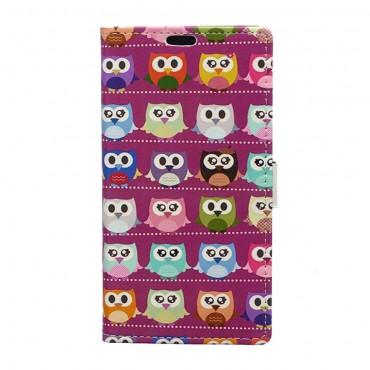 """Divatos """"Mr. Owl Multi"""" tárca Samsung Galaxy J5 2017 készülékekhez"""