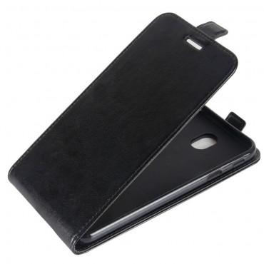 Divatos flip tárca Samsung Galaxy J7 2017 készülékekhez – fekete