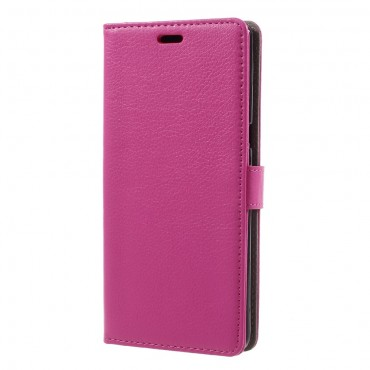 """Elegáns """"Litchi"""" műbőrtárca Samsung Galaxy Note 8 készülékekhez – rózsaszín"""