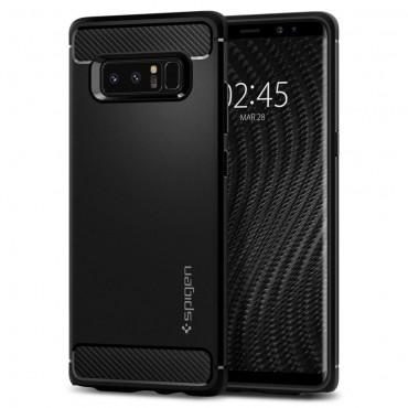 """Spigen """"Rugged Armor"""" védőtok Samsung Galaxy Note 8 készülékekhez – fekete"""