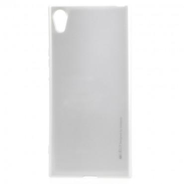 Goospery iJelly Case TPU géles védőtok Sony Xperia XA1 készülékekhez – ezüstszínű