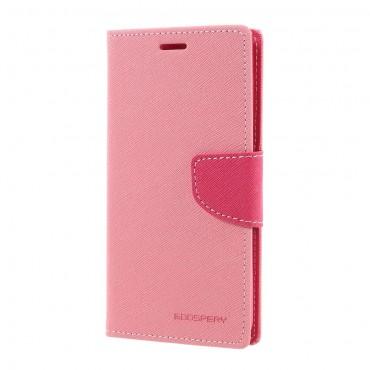 Nyitható tok Goospery Canvas Diary Huawei Honor 8 Lite / P8 Lite 2017 készülékekhez - rózsaszín