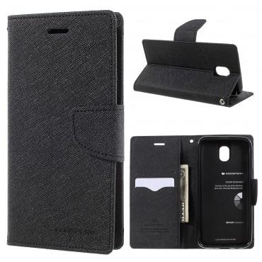 Goospery Fancy Diary tárca Samsung Galaxy J7 2017 készülékekhez – fekete