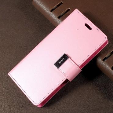 Elegáns Goospery Rich Diary tárca Samsung Galaxy S8 készülékekhez – rózsaszín