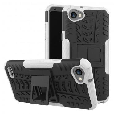 """Hibrid TPU géles """"Tough"""" védőtok LG Q6 készülékekhez – fekete"""