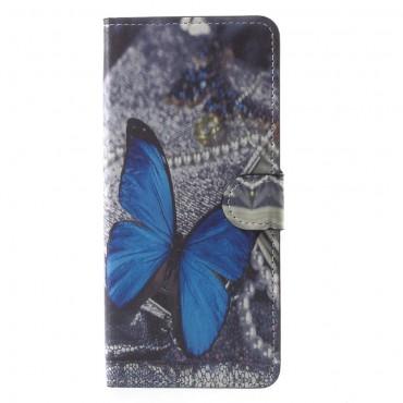 """Divatos """"Blue Butterfly"""" tárca Samsung Galaxy Note 8 készülékekhez"""
