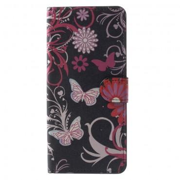 """Divatos """"Flower World"""" tárca Samsung Galaxy Note 8 készülékekhez"""