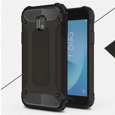 """Strapabíró """"Rock"""" védőtok Samsung Galaxy J3 2017 készülékekhez – fekete"""