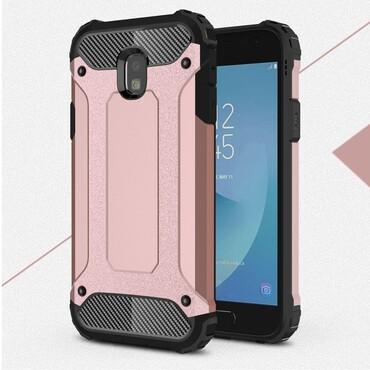 """Strapabíró """"Rock"""" védőtok Samsung Galaxy J3 2017 készülékekhez – rózsaszín"""