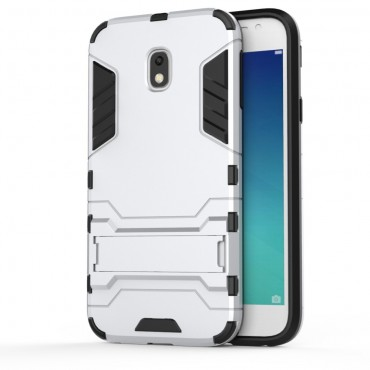 """Strapabíró """"Impact X"""" védőtok Samsung Galaxy J3 2017 készülékekhez – ezüstszínű"""