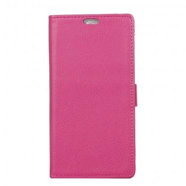 """Elegáns """"Litchi"""" tárca Samsung Galaxy J3 2017 készülékekhez – rózsaszín"""