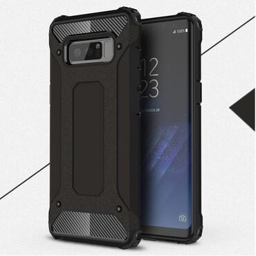 """Strapabíró """"Rock"""" védőtok Samsung Galaxy Note 8 készülékekhez – fekete"""