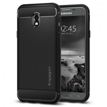 """Spigen """"Rugged Armor"""" védőtok Samsung Galaxy J3 2017 készülékekhez – fekete"""