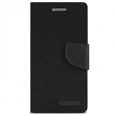 Goospery Canvas Diary tárca Samsung Galaxy Note 8 készülékekhez – fekete