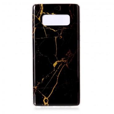 Marble divatos védőtok Samsung Galaxy Note 8 készülékekhez – fekete