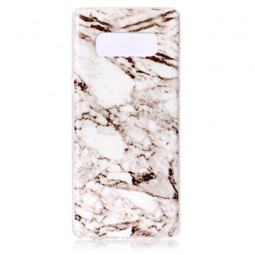 Marble divatos védőtok Samsung Galaxy Note 8 készülékekhez – fehér