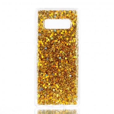 Liquid Glitter divatos védőtok Samsung Galaxy Note 8 készülékekhez – aranyszínű