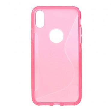 S-Line TPU géles védőtok iPhone X / XS készülékekhez – rózsaszín