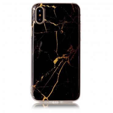 """Divatos tok """"Marble"""" iPhone X / XS készülékekhez - fekete"""