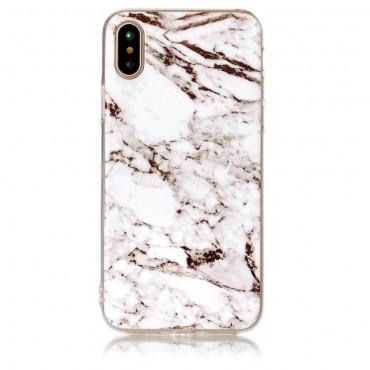 Marble divatos védőtok iPhone X / XS készülékekhez – fehér