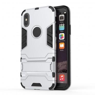 """Strapabíró """"Impact X"""" védőtok iPhone X / XS készülékekhez – ezüstszínű"""
