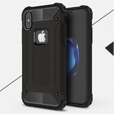 """Strapabíró """"Rock"""" védőtok iPhone X / XS készülékekhez – fekete"""