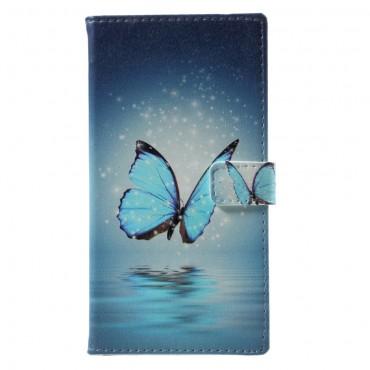 """Divatos """"Blue Buttefly"""" tárca LG Q6 készülékekhez"""