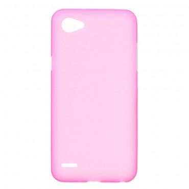 TPU géles védőtok LG Q6 készülékekhez – rózsaszín