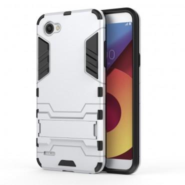 """Strapabíró """"Impact X"""" védőtok LG Q6 készülékekhez – ezüstszínű"""