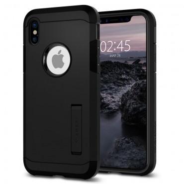 """Spigen """"Tough Armor"""" védőtok iPhone X készülékekhez – fekete"""