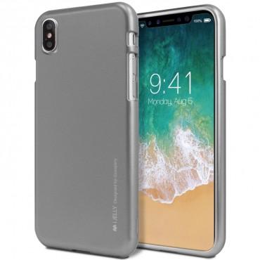 TPU gél tok Goospery iJelly Case iPhone X / XS készülékekhez - szürke