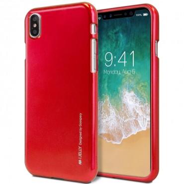 TPU gél tok Goospery iJelly Case iPhone X / XS készülékekhez - piros