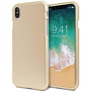 TPU gél tok Goospery iJelly Case iPhone X / XS készülékekhez - arany