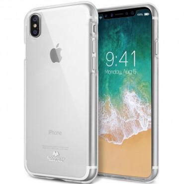 TPU géles Goospery Jelly Case védőtok iPhone X / XS készülékekhez – átlátszó