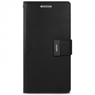 Elegáns Goospery Rich Diary tárca iPhone X / XS készülékekhez – fekete