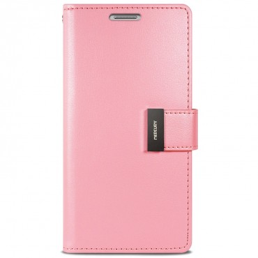 Elegáns Goospery Rich Diary tárca iPhone X / XS készülékekhez – rózsaszín