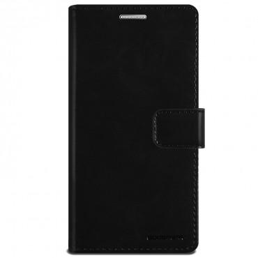 Nyitható tok és tárca Goospery Mansoor Diary iPhone X / XS készülékekhez - fekete