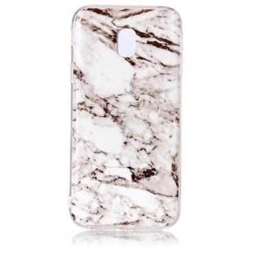 Marble divatos védőtok Samsung Galaxy J3 2017 készülékekhez – fehér