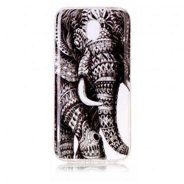 Tribal Elephant TPU géles védőtok Samsung Galaxy J3 2017 készülékekhez