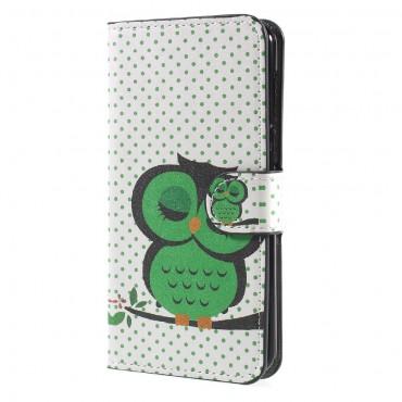 """Divatos """"Sleeping Owl"""" tárca Huawei Y5 2017 / Y6 2017 készülékekhez"""