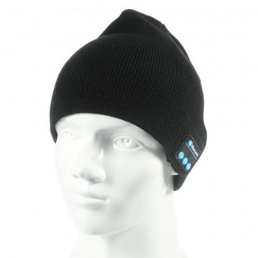 """Bluetooth sapka """"Cap"""" beépített hangszóróval, szabályzóval és mikrofonnal – fekete"""