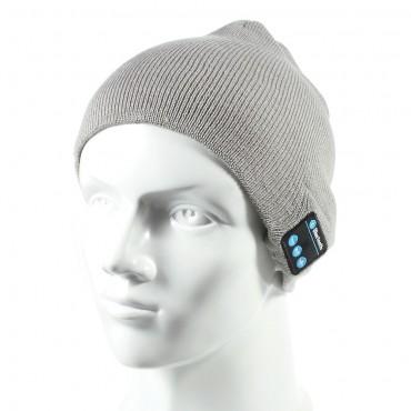 """Bluetooth sapka """"Cap"""" beépített hangszóróval, szabályzóval és mikrofonnal – szürke"""