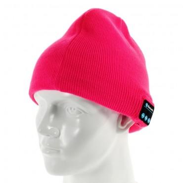 """Bluetooth sapka """"Cap"""" beépített hangszóróval, szabályzóval és mikrofonnal – rózsaszín"""