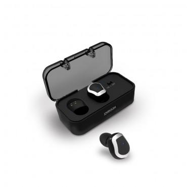"""Earbuds vezeték nélküli bluetooth fülhallgató """"Chrome"""" hordozható töltőállomással - fekete"""