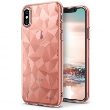 "Ringke ""Air Prism"" borító iPhone X telefonokhoz - rose gold"